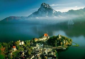 Alpská jezera avodopád Hohenzollern