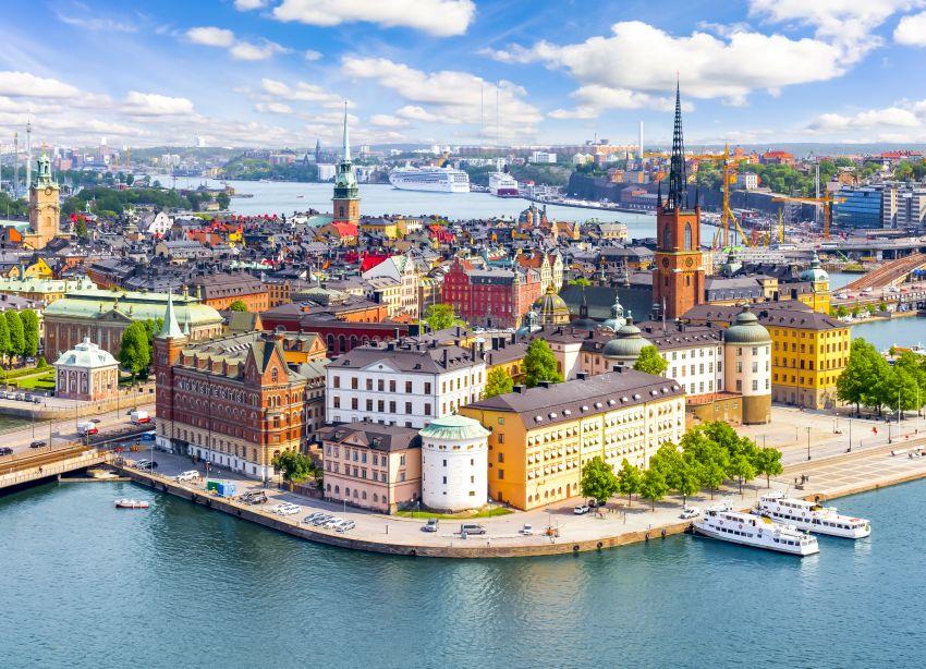 Stockholm aokolí letecky